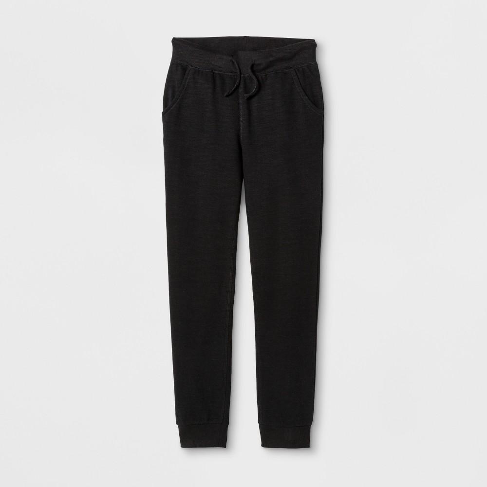 Plus Size Girls Fleece Pants - Cat & Jack Black L Plus