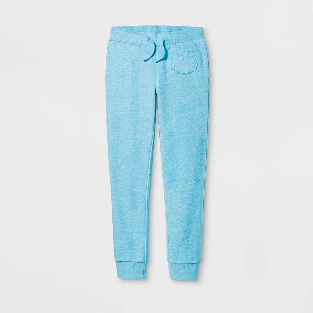 Girls Cat Patch Fleece Pants - Cat & Jack Blue L
