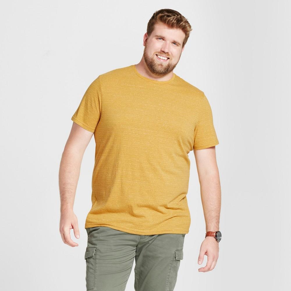 Mens Big & Tall Standard Fit Short Sleeve Crew T-Shirt - Goodfellow & Co Gold Leaf Xlt, Yellow