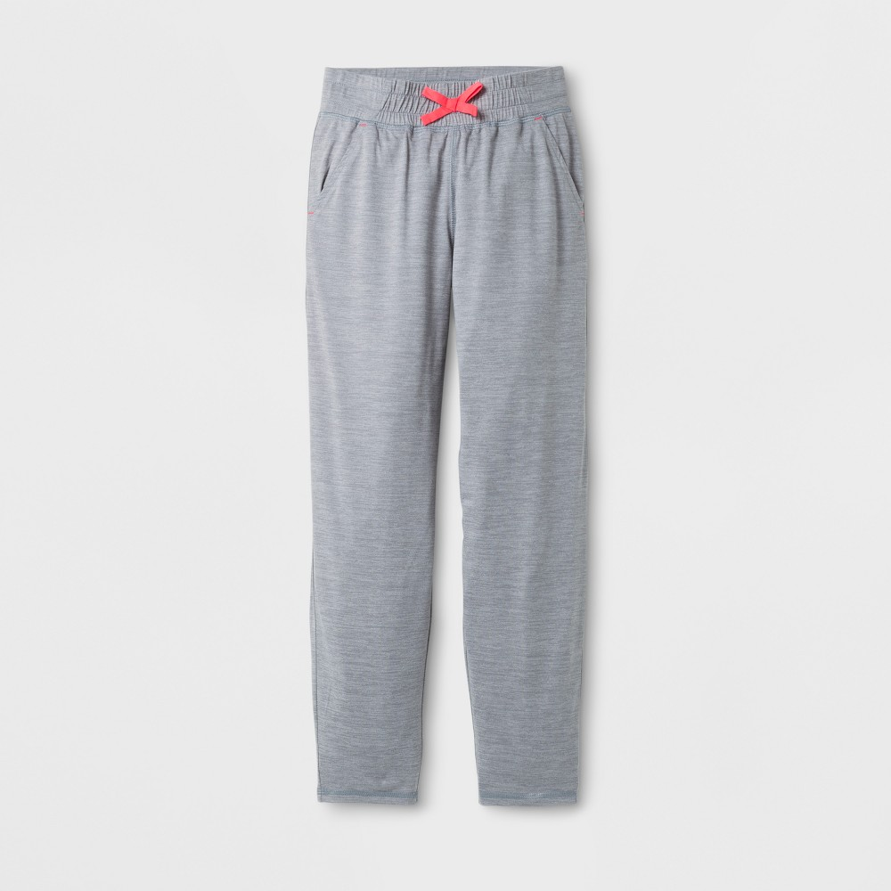 Girls Lightweight Warm-Up Pants - C9 Champion - Concrete Gray Heather L, Heather Gray