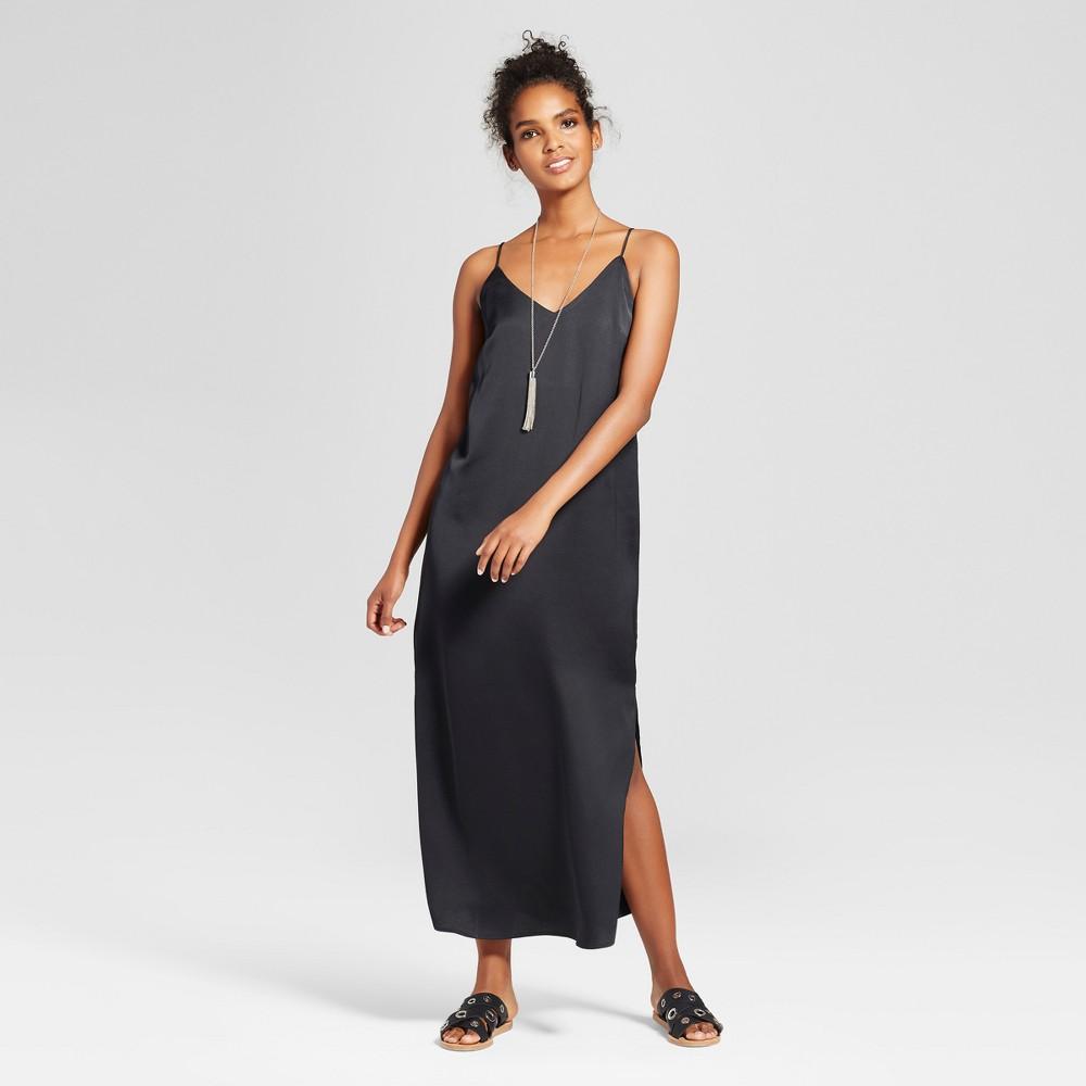 Women's Maxi Slip Dress - Mossimo Black L