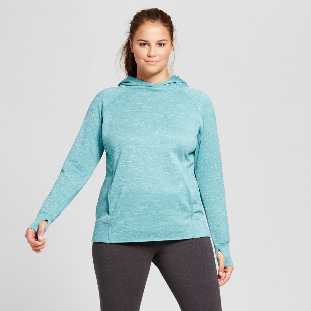 Womens Plus-Size Tech Fleece Hoodie - C9 Champion Teal (Blue) 2X