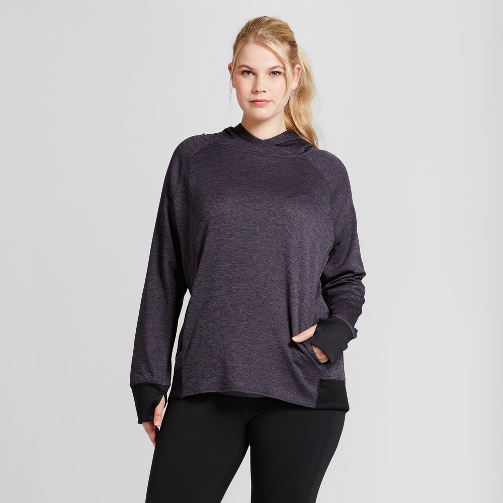 Womens Plus-Size Tech Fleece Hoodie - C9 Champion Dark Gray 2X