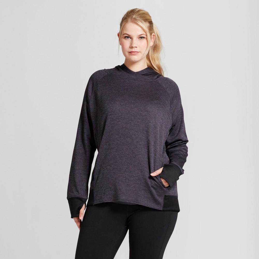 Womens Plus-Size Tech Fleece Hoodie - C9 Champion Dark Gray 3X