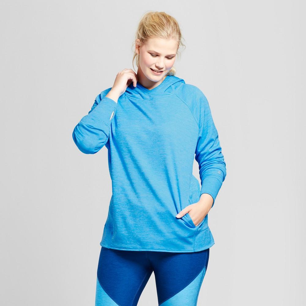 Womens Plus-Size Tech Fleece Hoodie - C9 Champion Hydro Blue 2X
