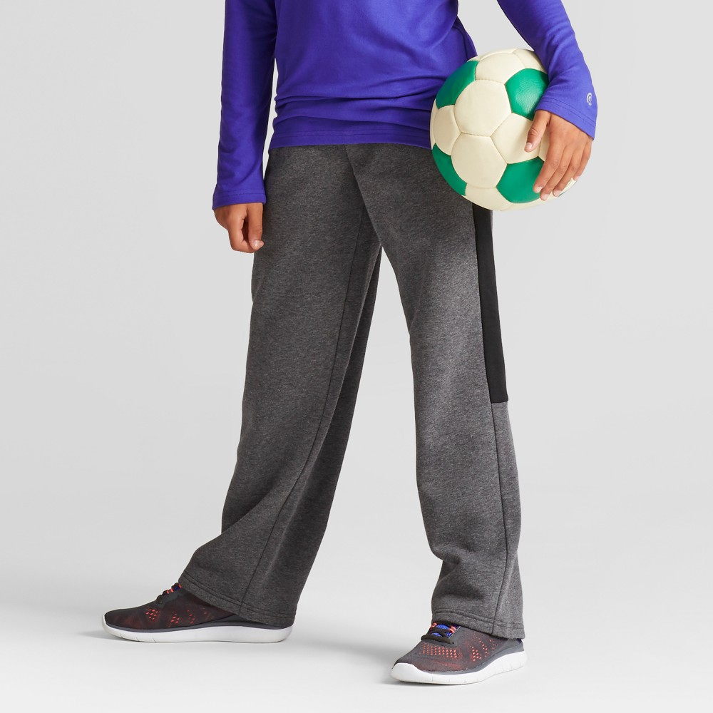 Boys Cotton Fleece Pants - C9 Champion - Charcoal Heather XS