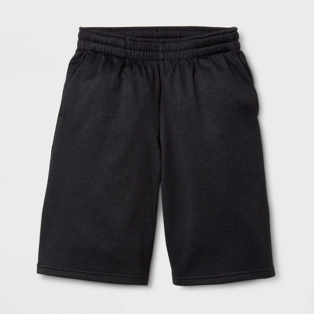 Boys Tech Fleece Shorts - C9 Champion - Black Heather L