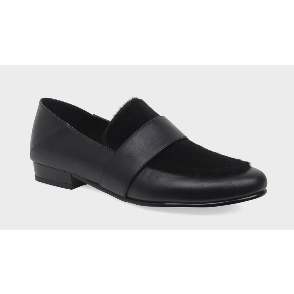 Womens Ivy Collapse Back Loafers Who What Wear - Black 6