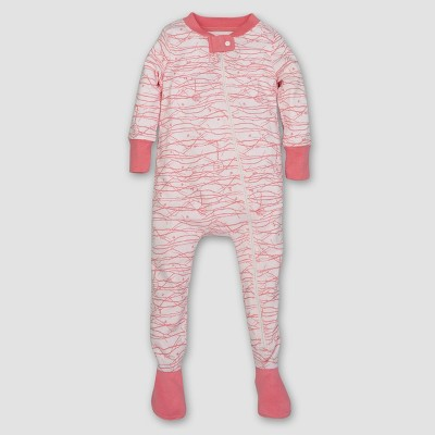 Burt's Bees Baby® Girls' Organic Trees Sleeper - Pink 6-9M