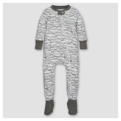 Burt's Bees Baby® Boys' Organic Trees Sleeper - Gray 0-3M