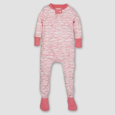 Burt's Bees Baby® Girls' Organic Trees Sleeper - Pink Newborn