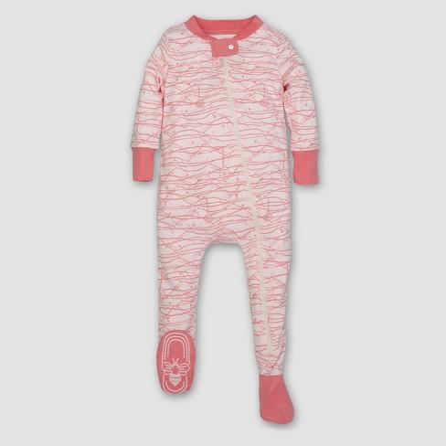 Burt's Bees Baby® Girls' Organic Trees Sleeper - Pink : Target