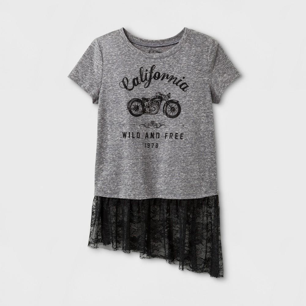 Girls Graphic T-Shirt - Art Class Heather Gray XL