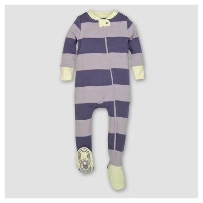 Burt's Bees Baby® Girls' Organic Stripe Sleeper - Violet 6-9M