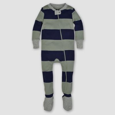 Burt's Bees Baby® Boys' Organic Stripe Sleeper - Green 6-9M