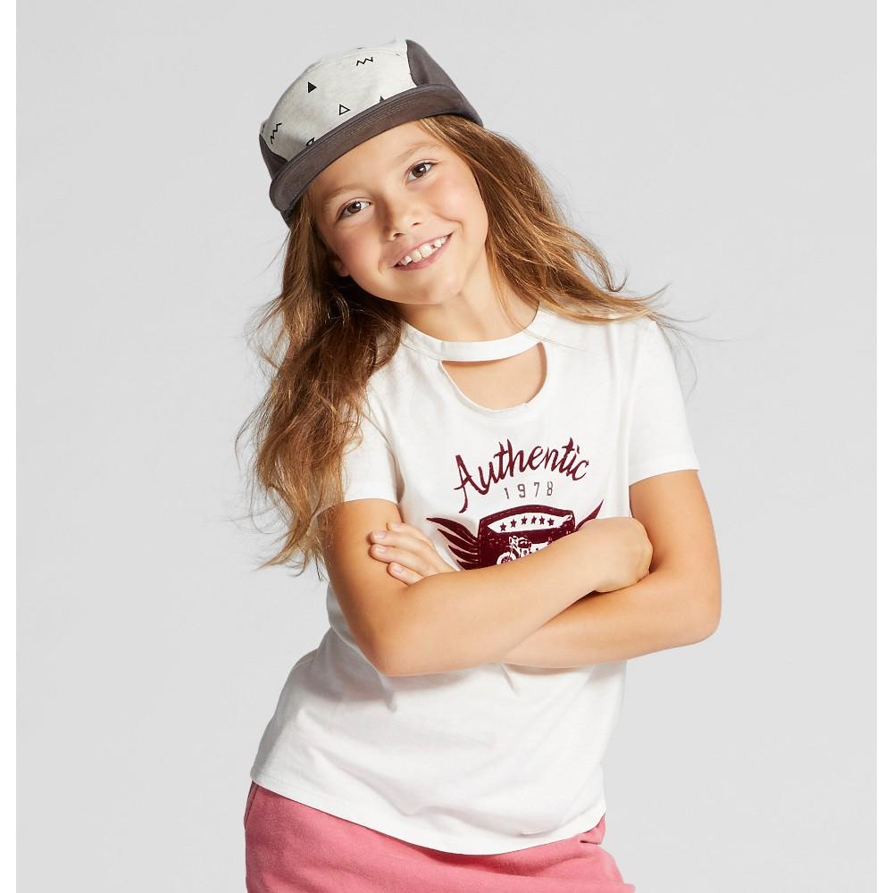 Girls Short Sleeve Graphic T-Shirt - Art Class White S