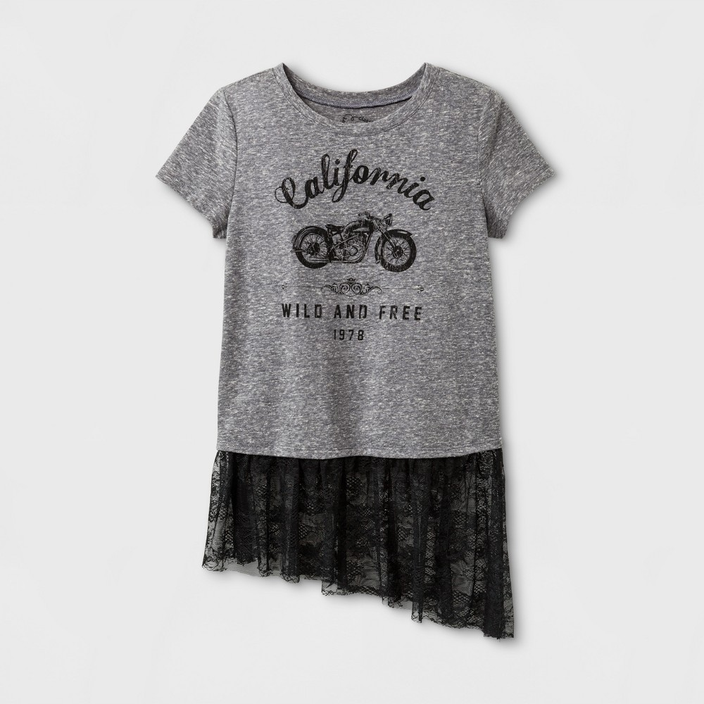 Girls Graphic T-Shirt - Art Class Heather Gray S