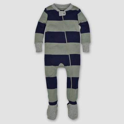 Burt's Bees Baby® Boys' Organic Stripe Sleeper - Green 12M