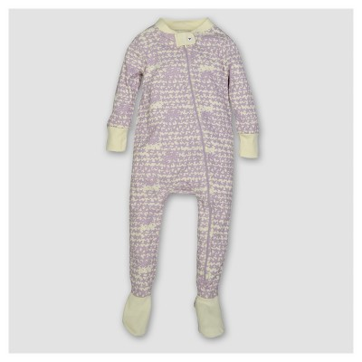 Burt's Bees Baby® Girls' Organic Clustered Star Sleeper - Violet 0-3M