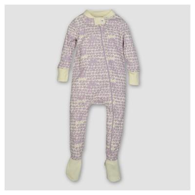 Burt's Bees Baby® Girls' Organic Clustered Star Sleeper - Violet Newborn