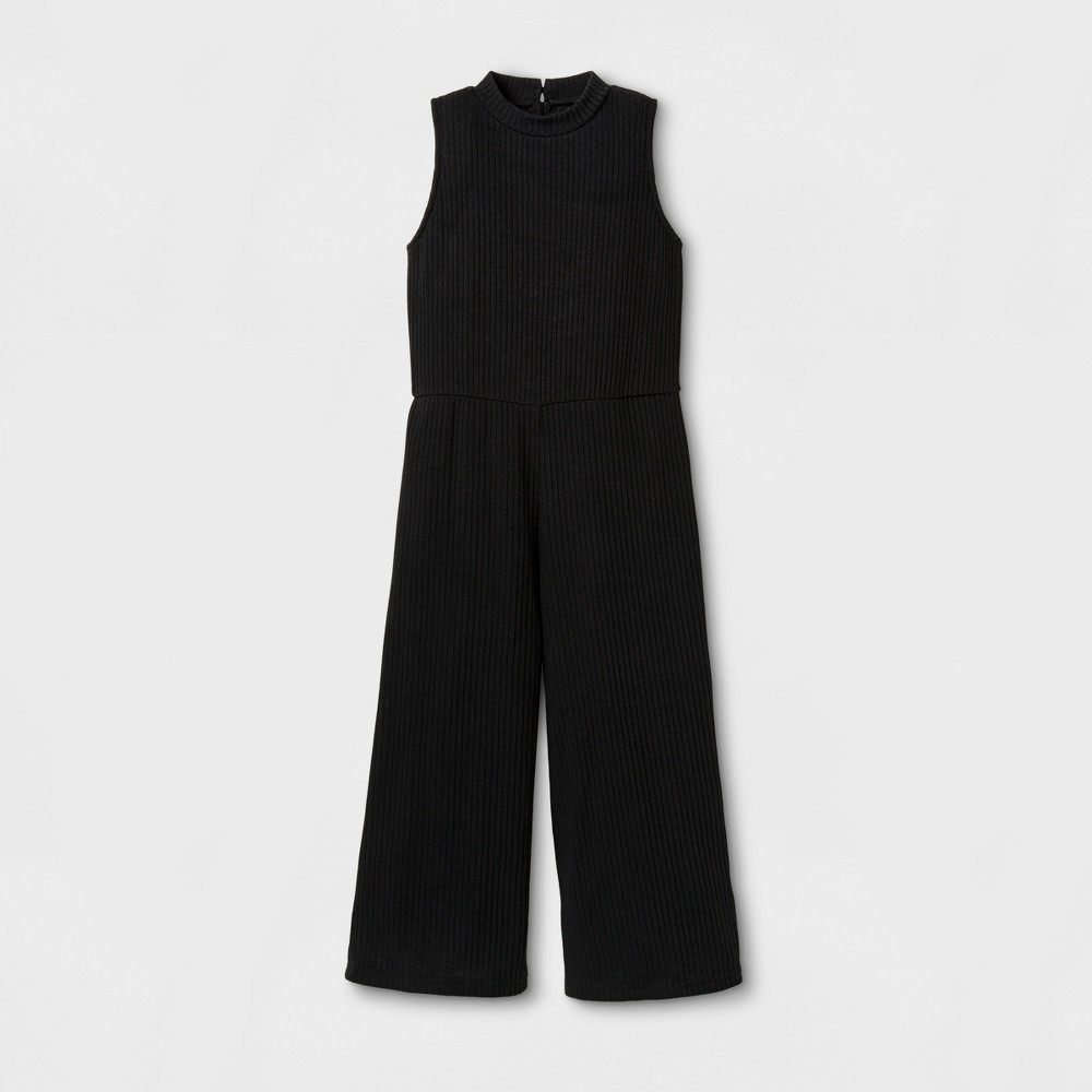 Girls Rib Jumpsuit - Art Class Black S