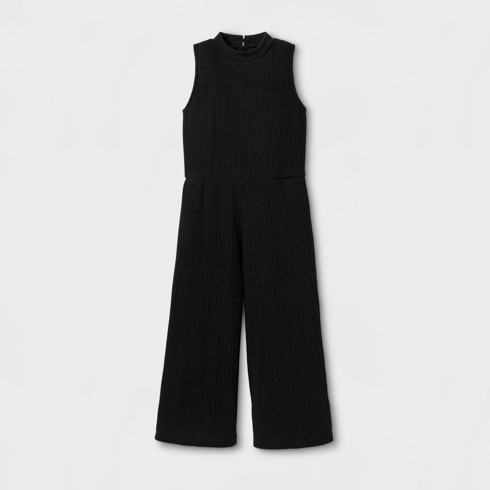 Girls Rib Jumpsuit - Art Class Black XS