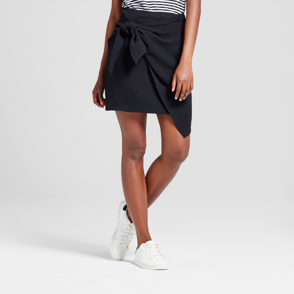 Womens Tie Skirt - Who What Wear Black 4