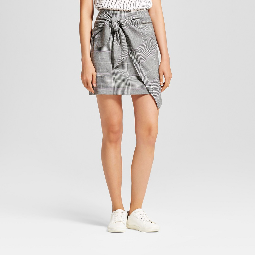 Womens Tie Skirt - Who What Wear Gray 12