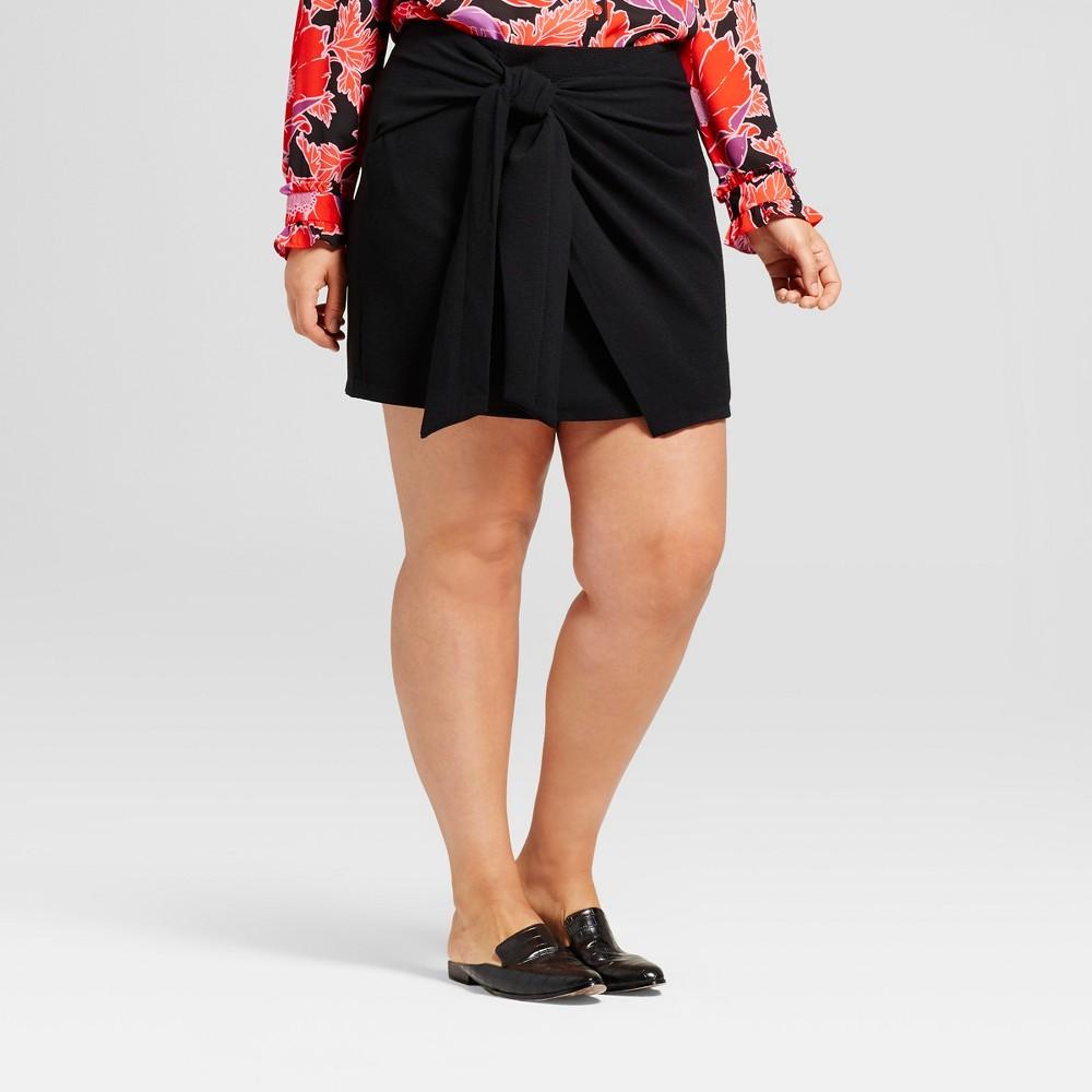 Womens Plus Size Mini Skirt - Who What Wear Black 16W