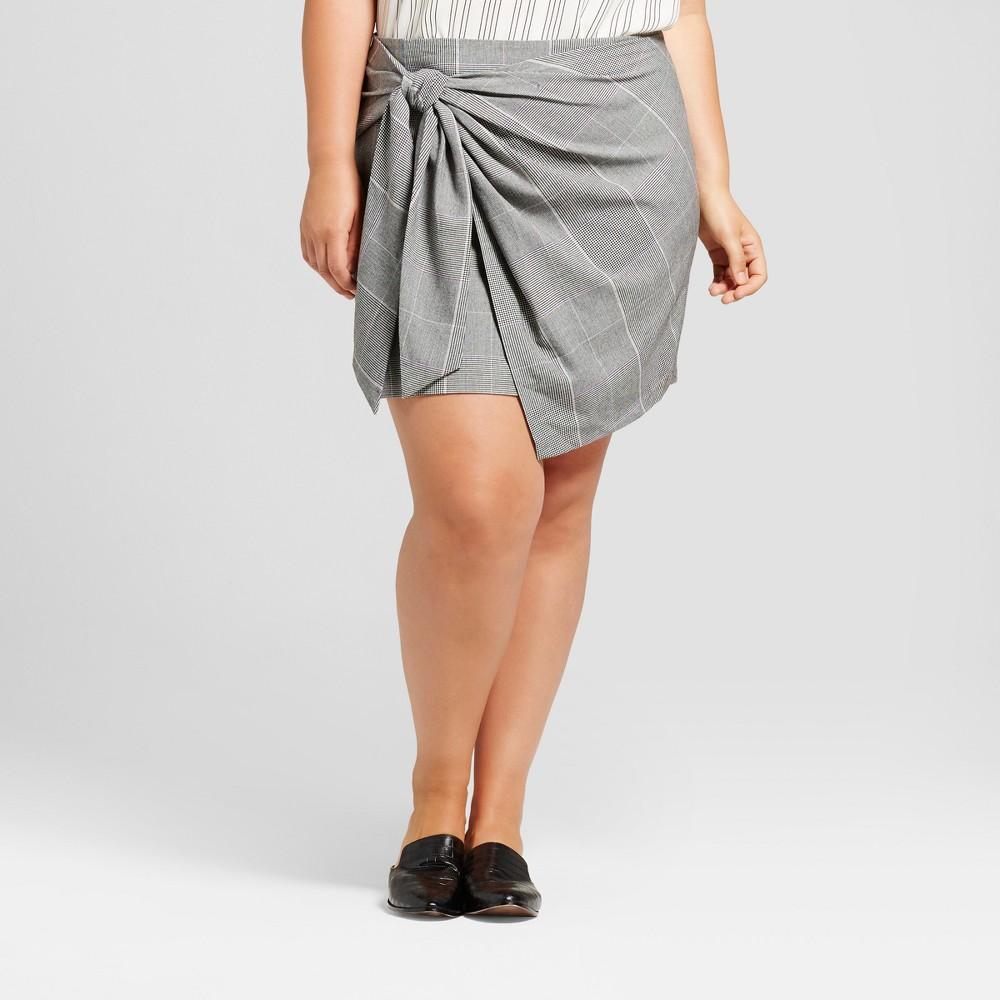 Womens Plus Size Mini Skirt - Who What Wear Gray 24W