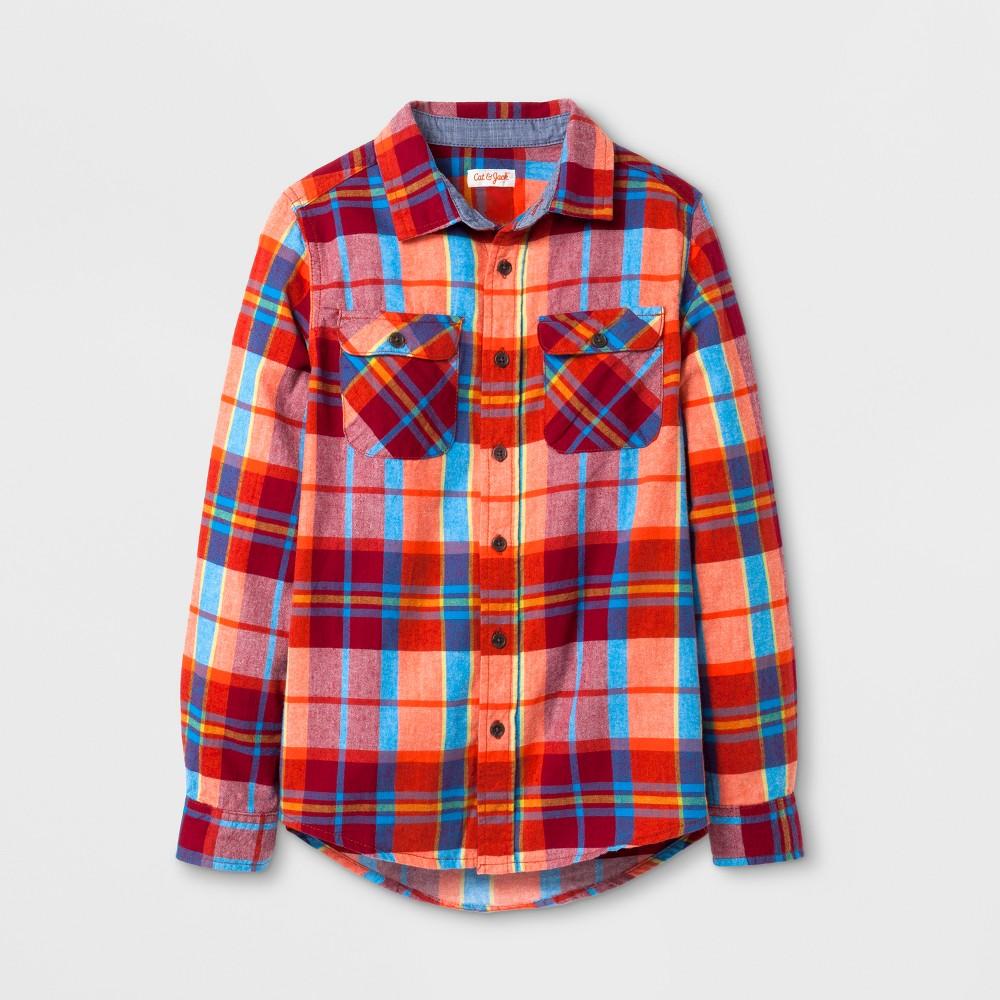 Boys Button Down Shirt - Cat & Jack Red L