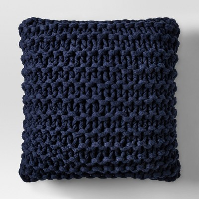 Blue Large Knit Throw Pillow - Project 62™