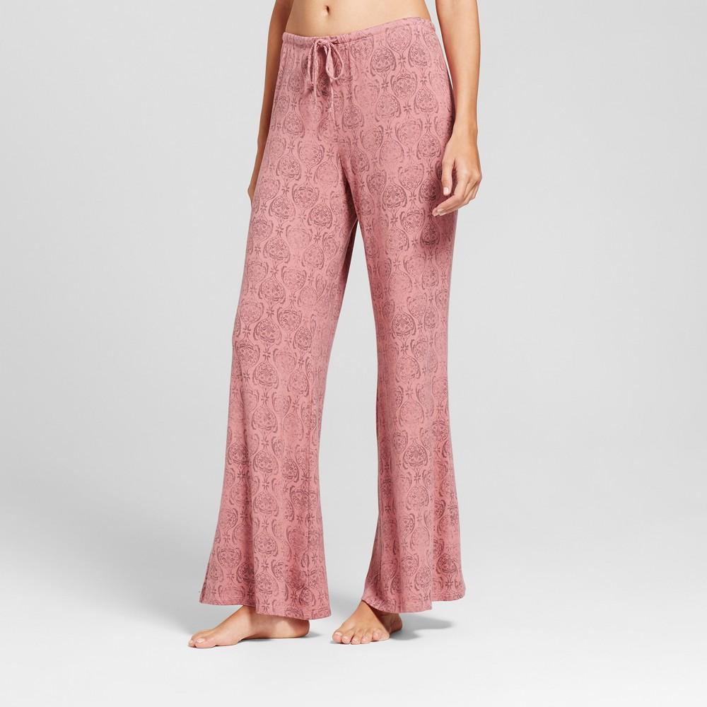 Womens Pajama Pants Holiday Rose M, Pink