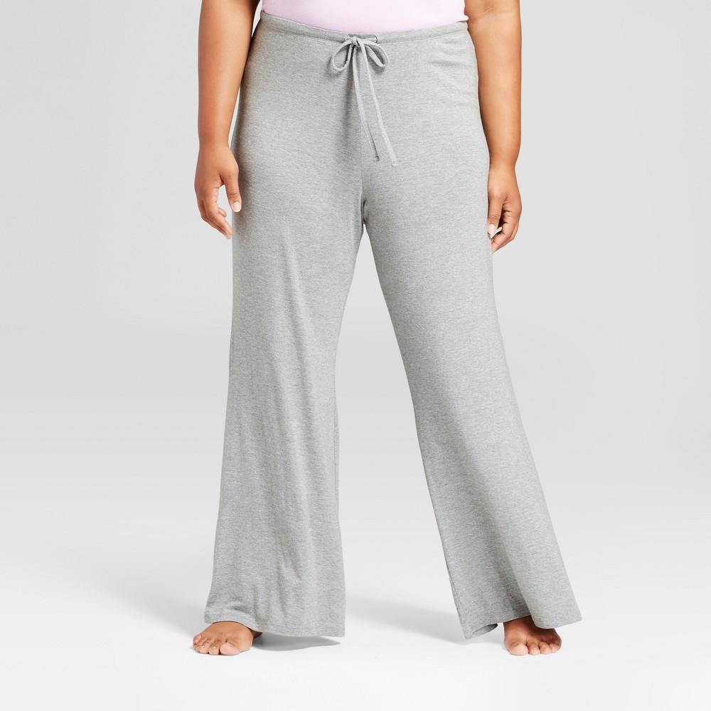 Womens Plus Size Pajama Pants Medium Heather Gray 3X