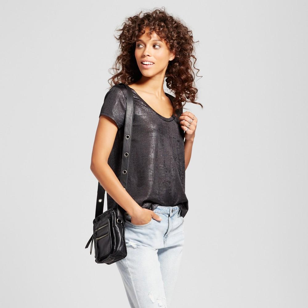 Womens Short Sleeve Foil Print T-Shirt - Mossimo Black Xxl