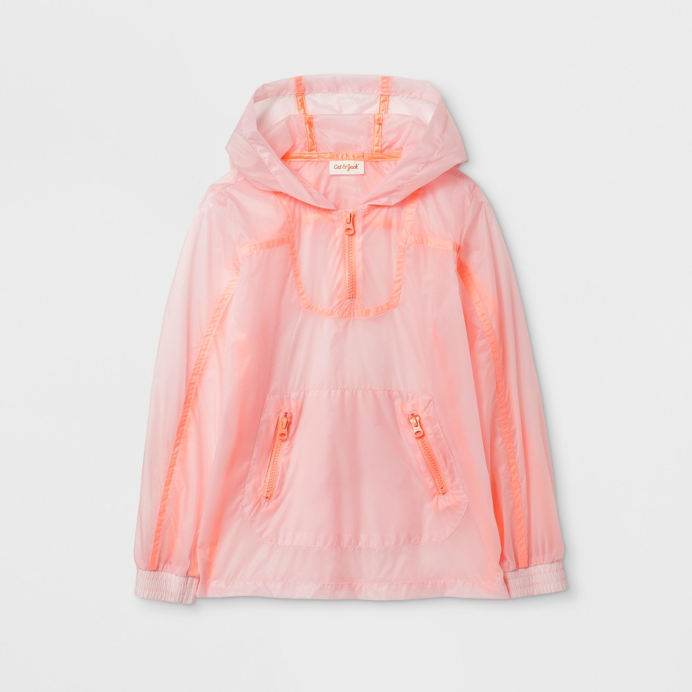 Girls Water-Resistant Windbreaker Jacket - Cat & Jack Pink L