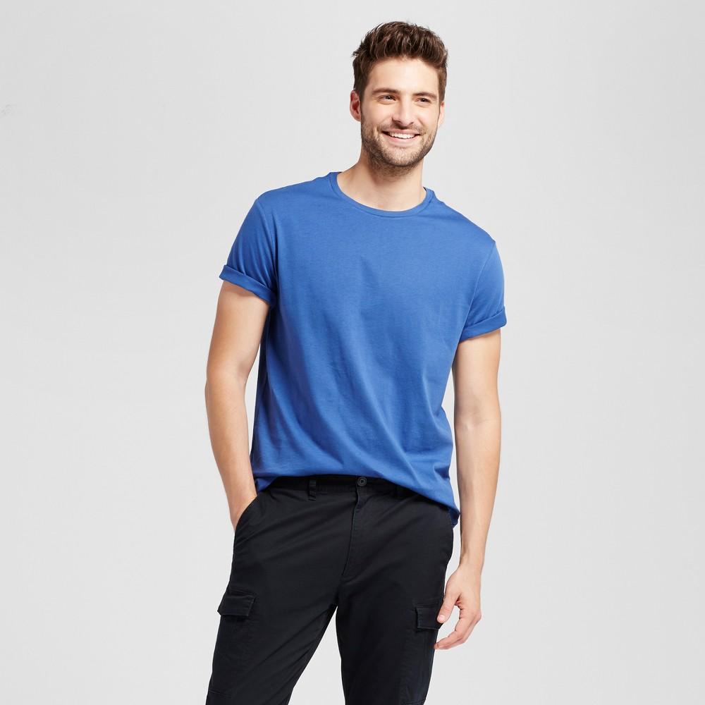 Mens Standard Fit Short Sleeve Crew T-Shirt - Goodfellow & Co Dark Blue L