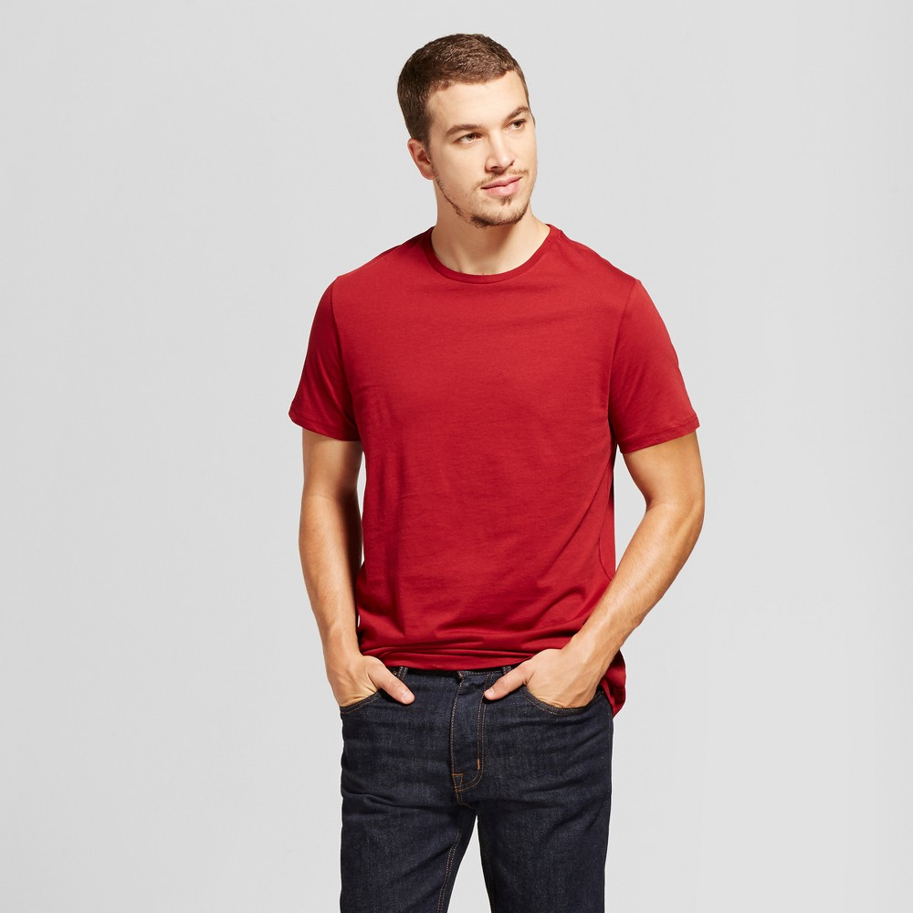 Mens Standard Fit Short Sleeve Crew T-Shirt - Goodfellow & Co Red L