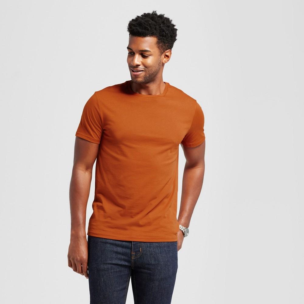 Mens Standard Fit Short Sleeve Crew T-Shirt - Goodfellow & Co Orange M