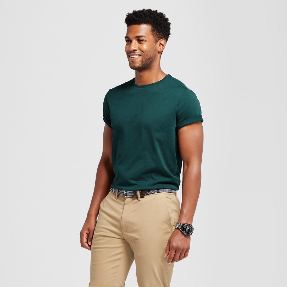 Mens Standard Fit Short Sleeve Crew T-Shirt - Goodfellow & Co Green S
