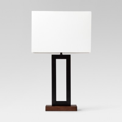 Weston Window Pane Table Lamp Black Includes Energy Efficient Light Bulb - Project 62™