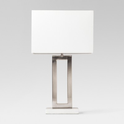 Weston Window Pane Table Lamp Silver Includes Energy Efficient Light Bulb - Project 62™