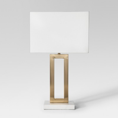 Weston Window Pane Table Lamp Brass Includes Energy Efficient Light Bulb - Project 62™