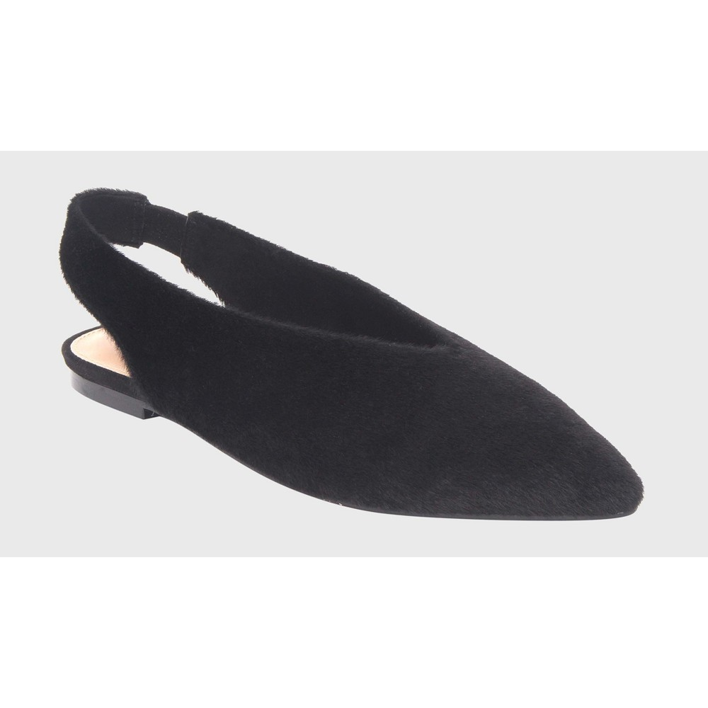 Womens Flora V-Throat Slingback Flats Who What Wear - Black 10