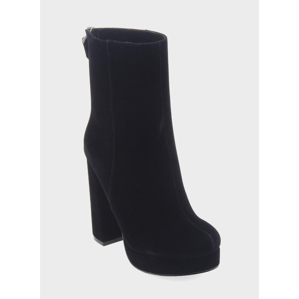 Womens Tatiana Velvet Platform Booties Who What Wear - Black 6