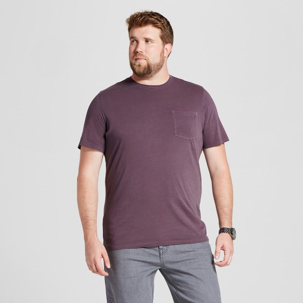 Mens Big & Tall Short Sleeve Garment-Dyed Crew T-Shirt - Goodfellow & Co Purple 3XBT