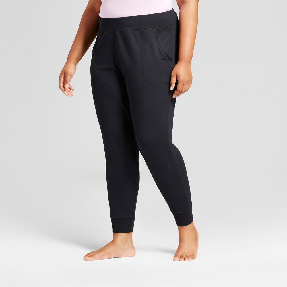 Womens Plus Size Pajama Pants - Ava & Viv Black 4X