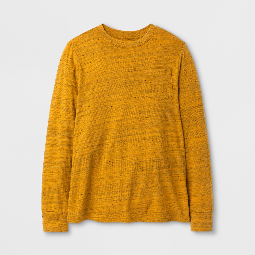 Boys Long Sleeve T-Shirt - Cat & Jack Yellow XL