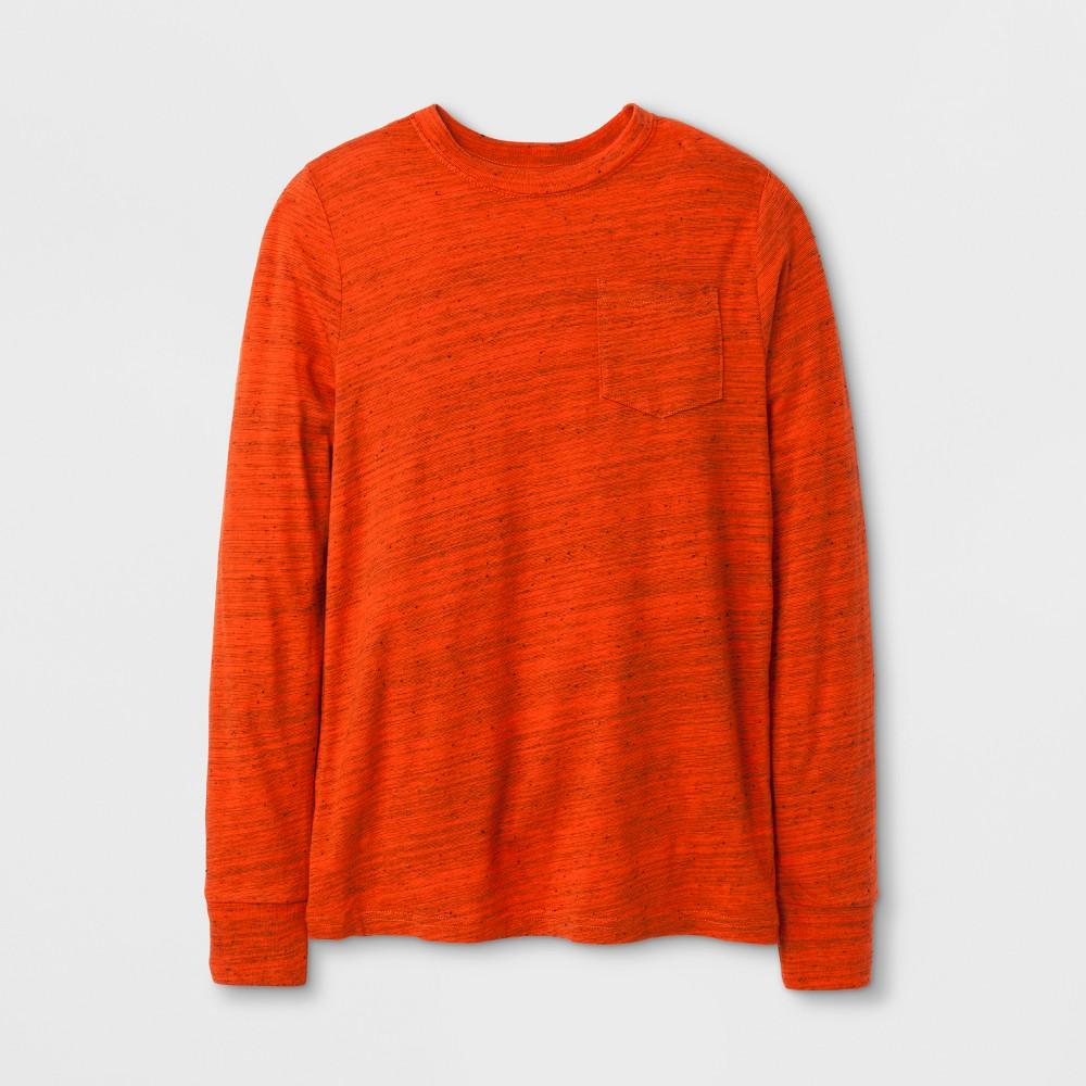 Boys Long Sleeve T-Shirt - Cat & Jack Orange Xxl, Yellow Orange