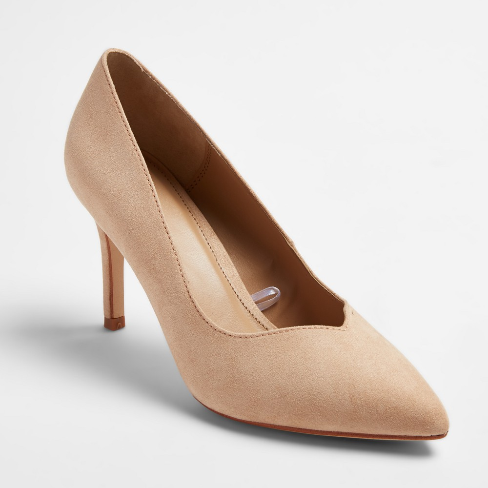 Womens Courtney Sweetheart Topline Heel Pumps - A New Day Honey Beige 8